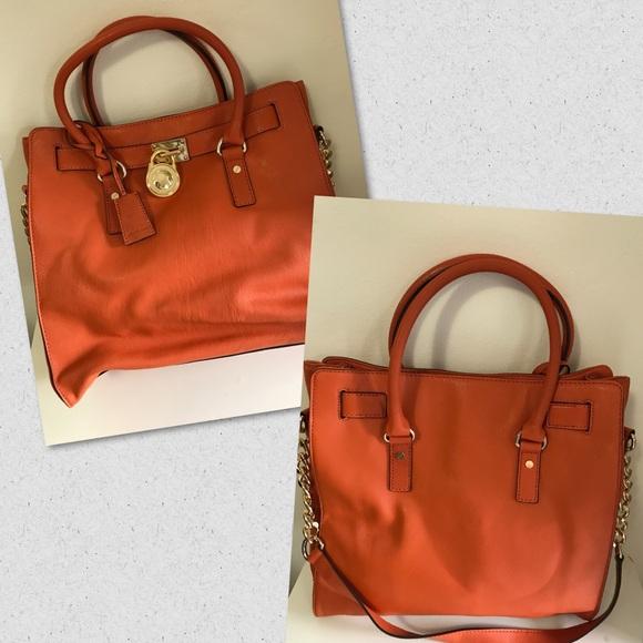 e5ea2b3c3275 Bags   Michael Kors Hamilton Bag Mandarin   Poshmark